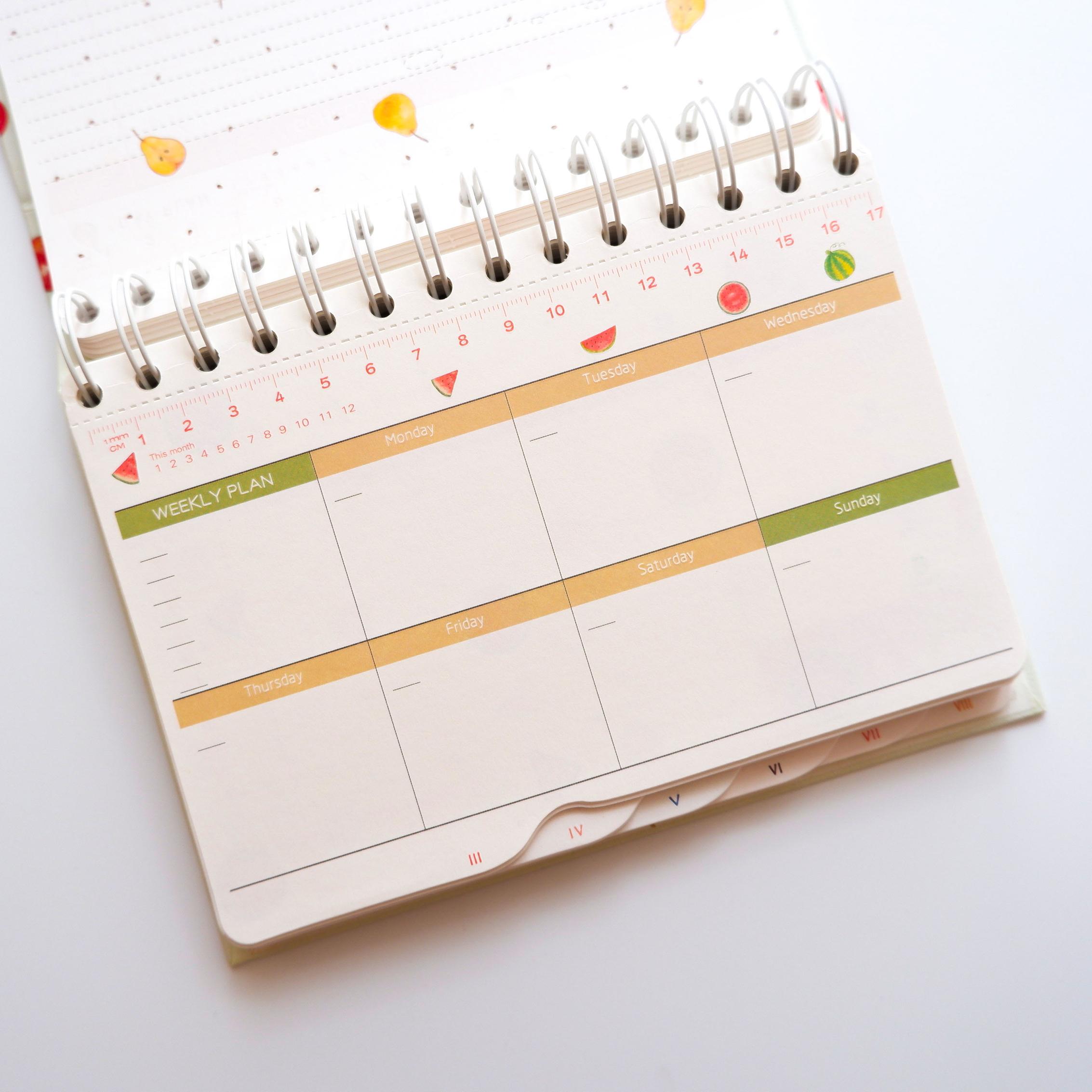 Sổ kế hoạch tuần cao cấp Cherry SQ-273 - Sổ Tay Các Loại Tác giả OEM | GiaSach.com