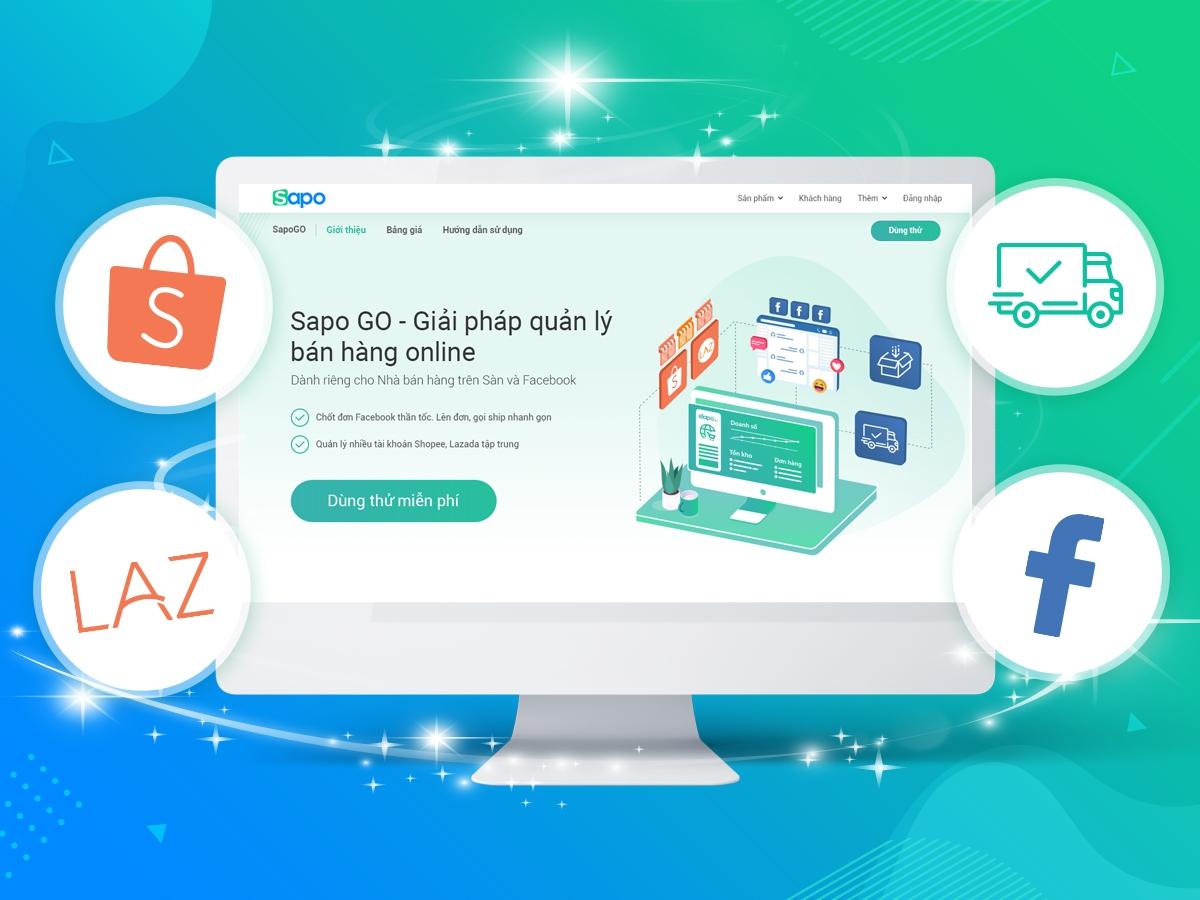 Sapo GO - Thêm gói dịch vụ phù hợp với từng shop bán hàng online