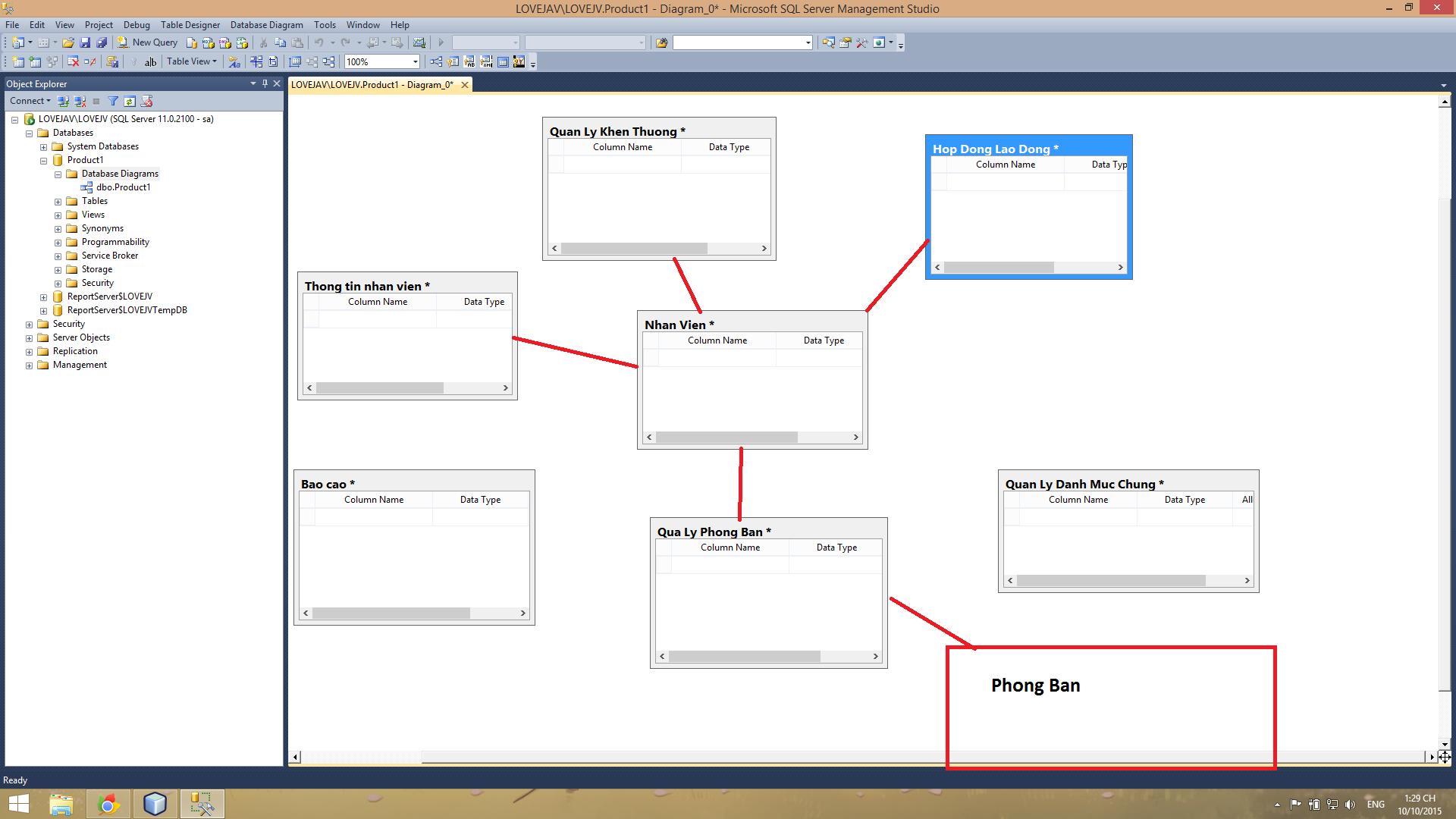 Database quản lý nhân sự