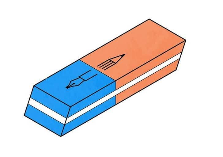 Sự thật về gôm tẩy bút mực - liệu có thực sự tẩy được vết mực?
