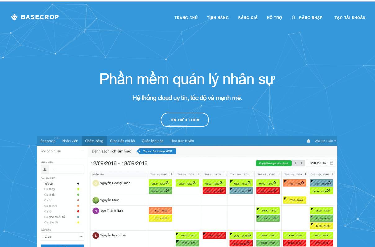 phần mềm nhân sự miễn phí