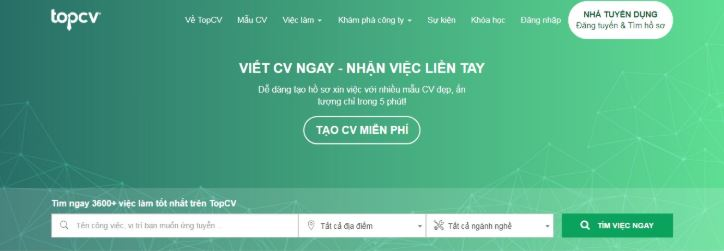 kênh tuyển dụng topcv tìm hồ sơ miễn phí