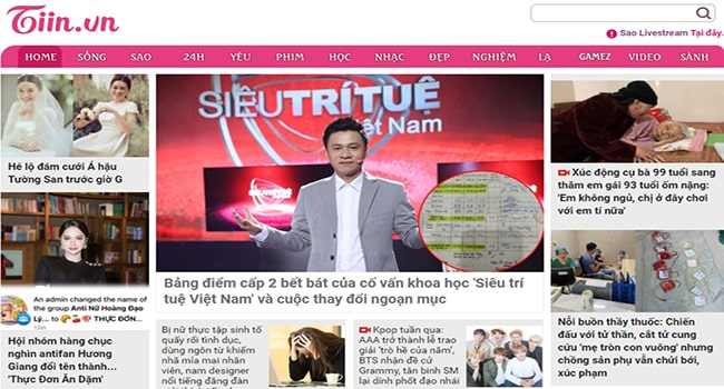 Trang web tin tức Tiin.vn