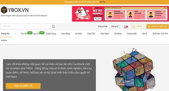 Trang web tin tức Ybox.vn